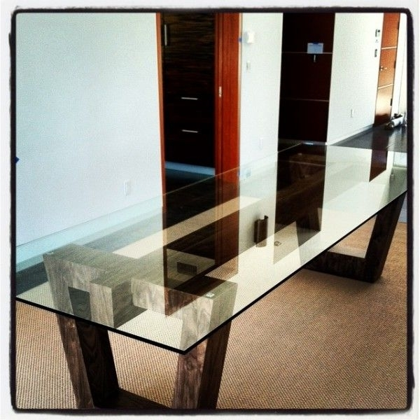 Newest Wooden Glass Dining Tables Inside Dining Table Pedestal Base Only Dining Table Bases For Glass Tops (Gallery 12 of 20)