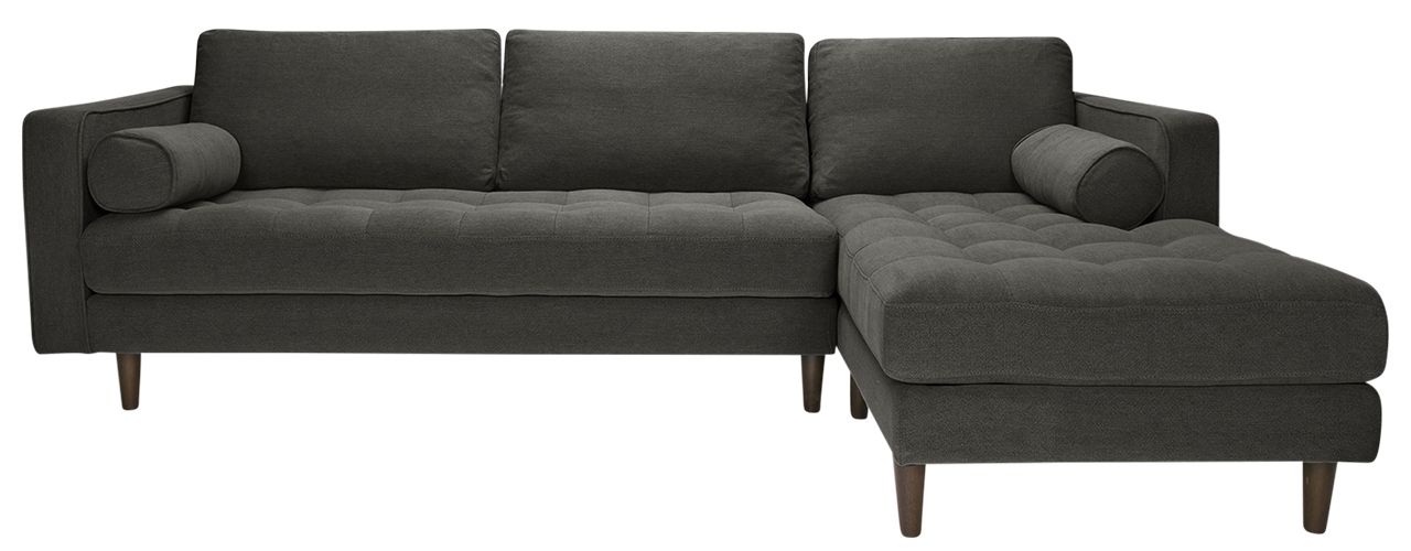 Nico Grey Sectionals With Left Facing Storage Chaise Pertaining To Fashionable Sawyer Laf Sectional Stoned Slate (View 14 of 15)