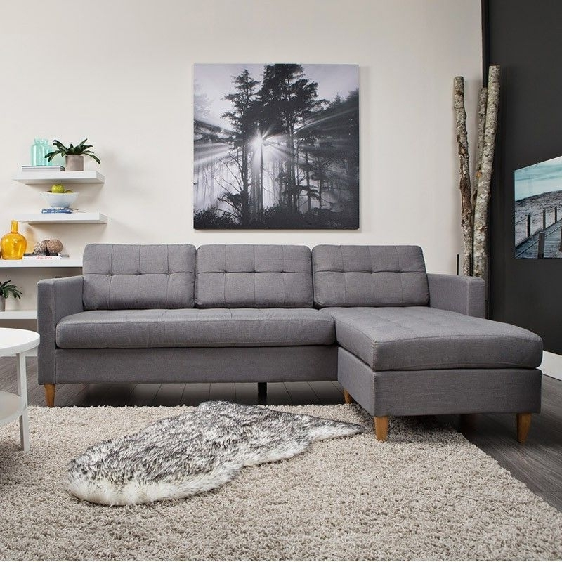 Nico Grey Sectionals With Left Facing Storage Chaise Regarding Famous Falslev 3 Seater Sofa (grey) (View 6 of 15)