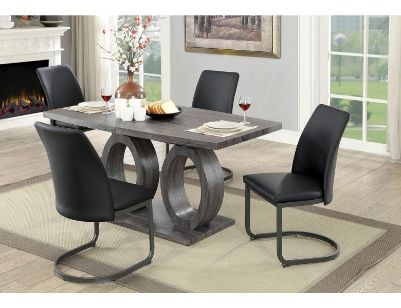 Nora Dining Tables With Regard To 2018 Nora Modern Style Dining Table Set (View 11 of 20)