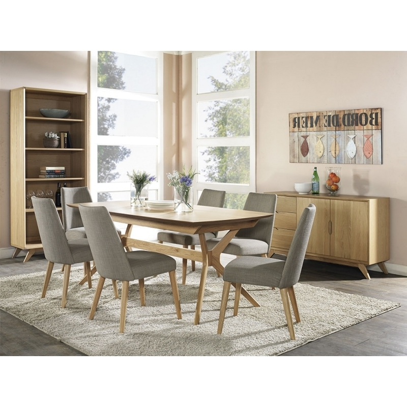 Nora Wooden Top 1.8M 2.2M Extendable Dining Table (Gallery 13 of 20)