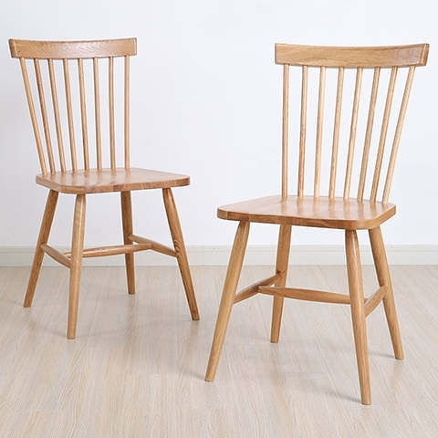 Nordic American Country Style Furniture, Solid Wood Dining Chairs With Preferred Oak Dining Chairs (Gallery 11 of 20)