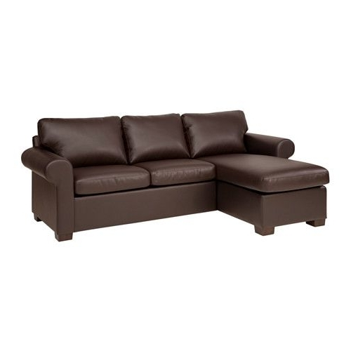 Norfolk Chocolate 3 Piece Sectionals With Raf Chaise Inside Well Known Ikea – Ektorp, Sectional, 3 Seat Left, Kimstad Brown, , Seat (View 10 of 15)
