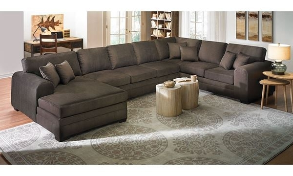 Norfolk Chocolate 6 Piece Sectionals Pertaining To Most Recent Upholstered Sectional Sofa With Chaise (View 2 of 15)