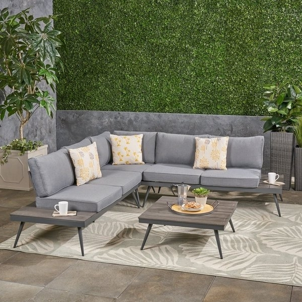 Norfolk Grey 6 Piece Sectionals Inside Trendy Shop Norfolk Outdoor V Shaped 5 Seater Sofa Setchristopher (View 8 of 15)