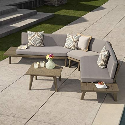 Norfolk Grey 6 Piece Sectionals Intended For Famous Amazon : Great Deal Furniture Hillside Outdoor V Shaped 4 Piece (View 9 of 15)