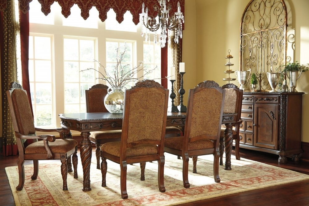 North Shore Rect Dining Room Ext Table, 4 Uph Side Chairs & 2 Uph Intended For Well Known Dining Room Chairs (View 4 of 20)