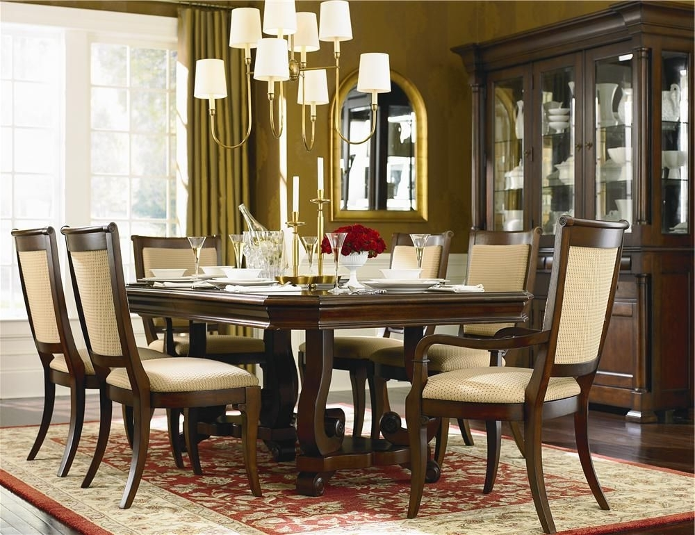 Norwood 7 Piece Rectangular Extension Dining Sets With Bench & Uph Side Chairs Inside Fashionable Louis Philippe 7 Piece Dining Room Setbassett (View 9 of 20)