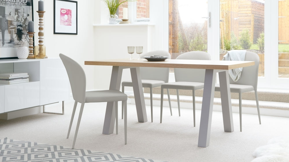 Oak 6 Seater Dining Tables With Newest Modern Oak 6 Seater Dining Set (Gallery 1 of 20)