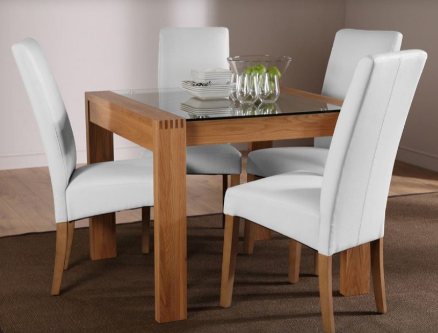 Oak And Glass Dining Tables And Chairs Throughout 2018 7 Contemporary Glass Square Dining Tables – Cute Furniture Uk (View 3 of 20)