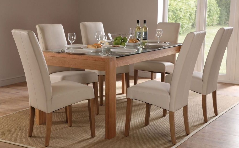Oak And Glass Dining Tables And Chairs Within Recent Callisto 150 Oak And Glass Dining Table And 4 Chairs Set (Grange (View 5 of 20)