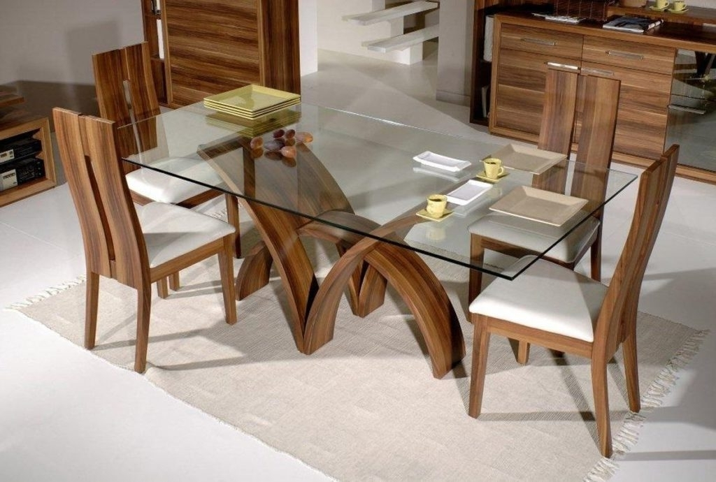Oak And Glass Dining Tables Sets In Preferred Kitchen : Round Glass Table Small Round Glass Dining Table Oak And (View 14 of 20)