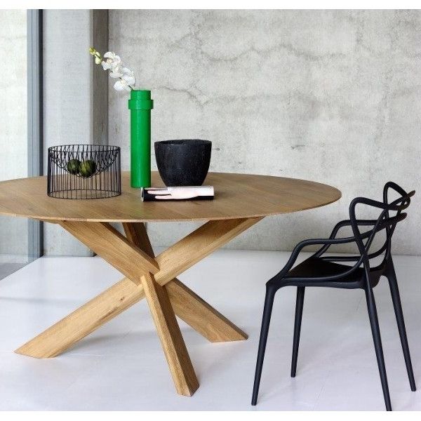 Oak Circle Dining Table (Gallery 14 of 20)