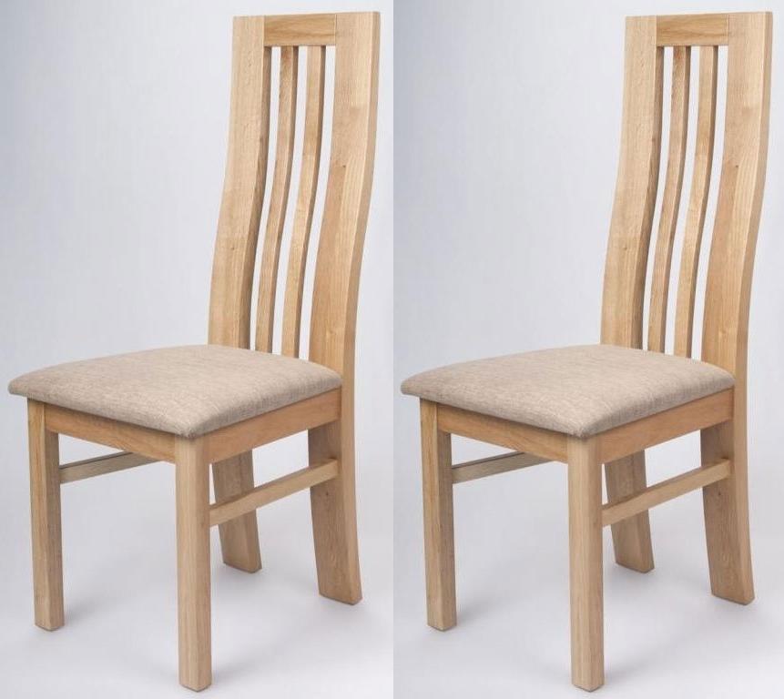 Oak Dining Chairs In Fashionable Buy Shankar Phoenix Oak Dining Chair (Pair) Online – Cfs Uk (Gallery 1 of 20)