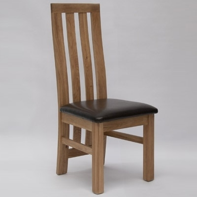 Oak Dining Chairs With Current Paris Oak Dining Chair (Pair) – Robson Furniture (View 13 of 20)