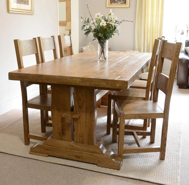Oak Dining Furniture Within Most Current Fitzwilliam 7Ft Oak Dining Table – Rathwood Uk (Gallery 3 of 20)