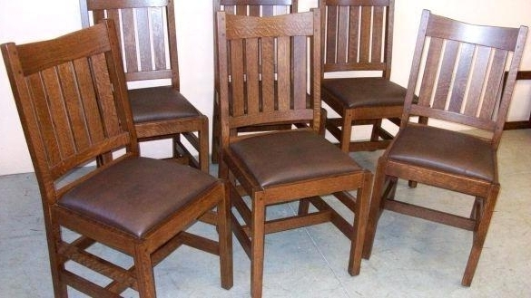Oak Dining Room Set With 6 Chairs – Ezvanity (View 13 of 20)