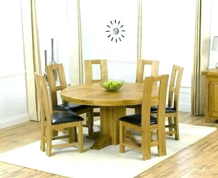Oak Dining Room Set With 6 Chairs – Ezvanity (View 14 of 20)