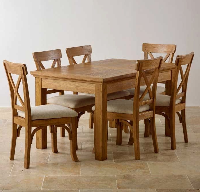 Oak Dining Room Set With 6 Chairs – Ezvanity.gq With Regard To Most Up To Date Norwood 9 Piece Rectangular Extension Dining Sets With Uph Side Chairs (Gallery 15 of 20)