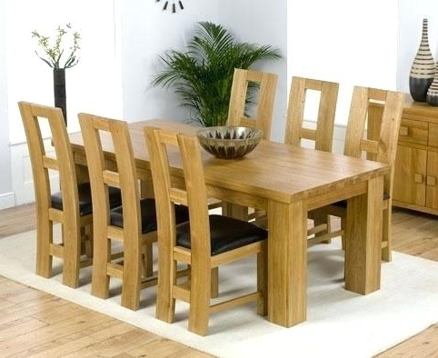Oak Dining Set 6 Chairs Throughout Popular Oak Dining Set 6 Chairs Room Ideas Chair Outdoor Patio Creative Of (Gallery 9 of 20)