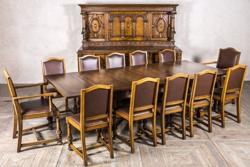 Oak Dining Sets In Most Up To Date Edwardian Oak Dining Set Sideboard Extending Table – Antiques Atlas (View 10 of 20)