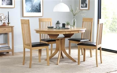 Oak Dining Table 4 Chairs – Ocane Regarding Well Known Extending Dining Tables And 4 Chairs (View 11 of 20)