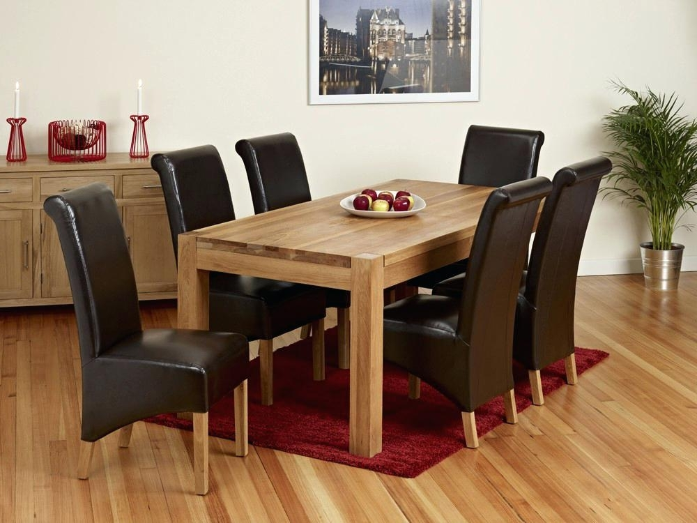 Oak Dining Table And 8 Chairs For Sale – Ocane Within 2018 Chunky Solid Oak Dining Tables And 6 Chairs (Gallery 14 of 20)