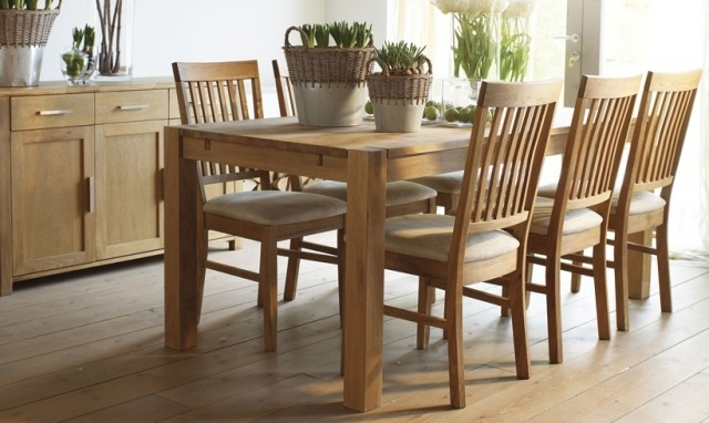 Oak Dining Table And Chairs – Thetastingroomnyc Pertaining To Latest Light Oak Dining Tables And 6 Chairs (Gallery 5 of 20)