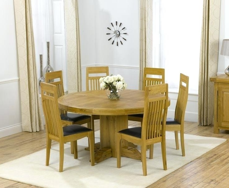 Oak Dining Table Chairs Uk Solid Oak Round Pedestal Dining Table And In Most Popular Pedestal Dining Tables And Chairs (Gallery 10 of 20)