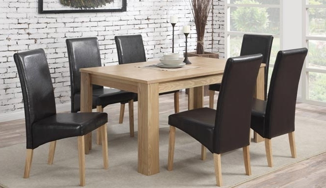 [%Oak Dining Table With 6 Faux Leather Chairs 39% Off With Popular Oak Dining Tables And Leather Chairs|Oak Dining Tables And Leather Chairs With Regard To Most Recent Oak Dining Table With 6 Faux Leather Chairs 39% Off|Famous Oak Dining Tables And Leather Chairs With Regard To Oak Dining Table With 6 Faux Leather Chairs 39% Off|Most Recent Oak Dining Table With 6 Faux Leather Chairs 39% Off With Oak Dining Tables And Leather Chairs%] (View 2 of 20)