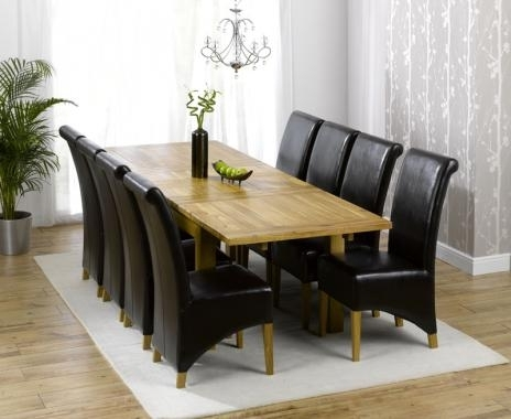 Oak Dining Tables 8 Chairs Regarding Best And Newest Dorset Solid Oak Dining Set – 6Ft Table With 8 Chairs (View 12 of 20)