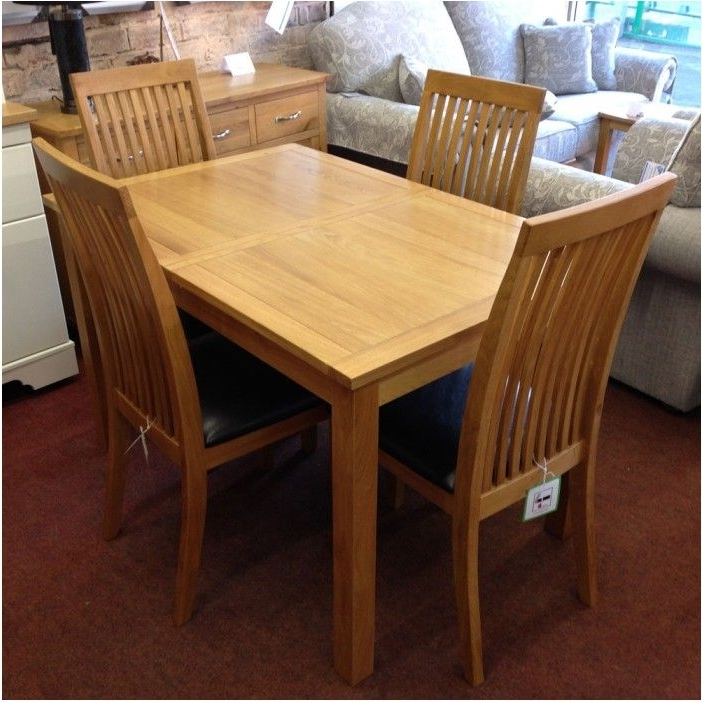 Oak Dining Tables And 4 Chairs With Most Popular Breathtaking Extending Oak Dining Table With 4 Chairs Flintshire (View 16 of 20)