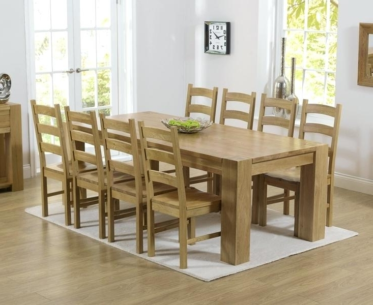 Oak Dining Tables And 8 Chairs Regarding Popular Oak Dining Table And 8 Chairs Sensational Dining Room Decoration (Gallery 1 of 20)