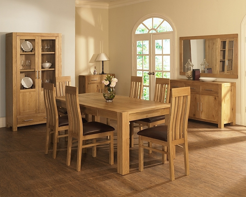 Oak Dining Tables And Chairs With 2018 Oak Dining Room Table And Chairs – Cheekybeaglestudios (View 14 of 20)