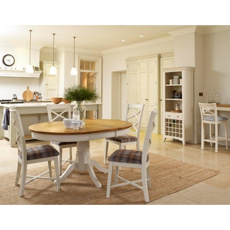 Oak Dining Tables And Fabric Chairs In Favorite Padstow Extending Oak Dining Table & Chairs Ex Display – The Place (View 11 of 20)