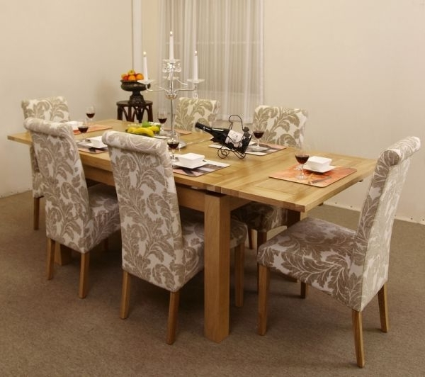 Oak Dining Tables And Fabric Chairs With Regard To Most Up To Date Modern Country' Dining Roomsjen Stanbrook (Gallery 7 of 20)