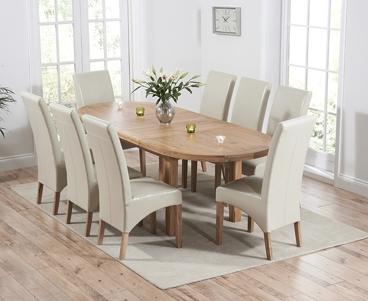 Oak Dining Tables And Leather Chairs With Most Recently Released Buy Mark Harris Cheyenne Solid Oak Dining Set – Oval Extending With (Gallery 17 of 20)