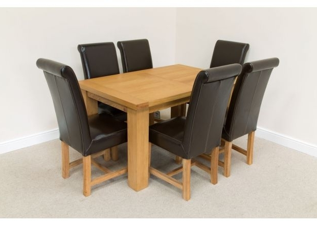 Oak Dining Tables With 6 Chairs Inside Best And Newest 6 Chair Dining Sets (Gallery 9 of 20)