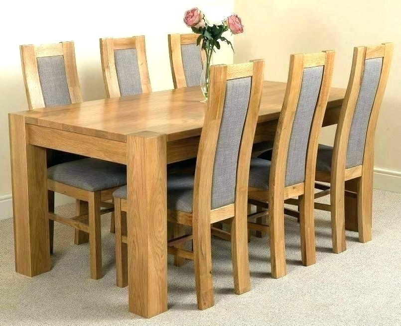 Oak Dining Tables With 6 Chairs Intended For Well Known Ebay Dining Chairs 6 Dining Tables And Chairs Ebay Uk Dining Table  (View 12 of 20)