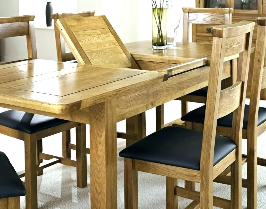 Oak Extending Dining Sets Regarding Most Recent Outstanding Exceptional Solid Oak Extending Dining Table And (View 2 of 20)