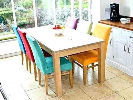 Oak Extending Dining Sets Regarding Well Known Solid Oak Round Extending Dining Table And Chairs 6 Wood Tables (Gallery 6 of 20)