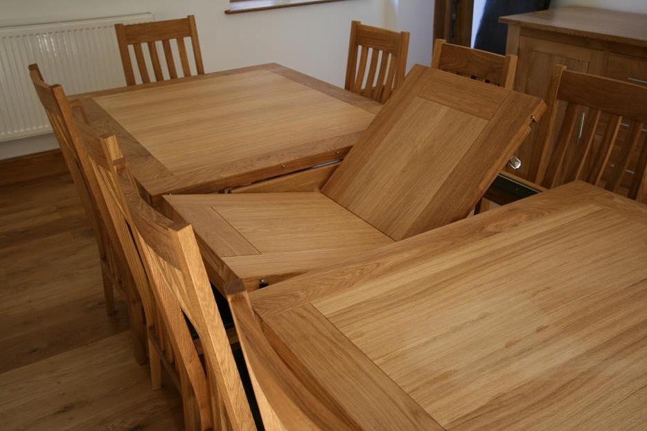 Oak Extending Dining Sets Throughout 2018 Extending Dining Table Sets Uk – Castrophotos (View 17 of 20)