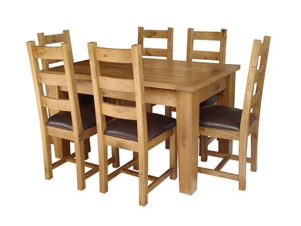 Oak Extending Dining Tables And 6 Chairs Pertaining To 2017 Kincraig Solid Oak Extending Dining Table + 6 Oak Chairs (View 11 of 20)
