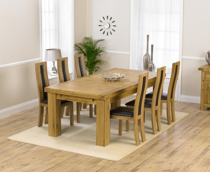 Oak Extending Dining Tables And 6 Chairs Throughout Well Known Loire 230Cm Solid Oak Extending Dining Table With Toronto Chairs Ranges (Gallery 9 of 20)