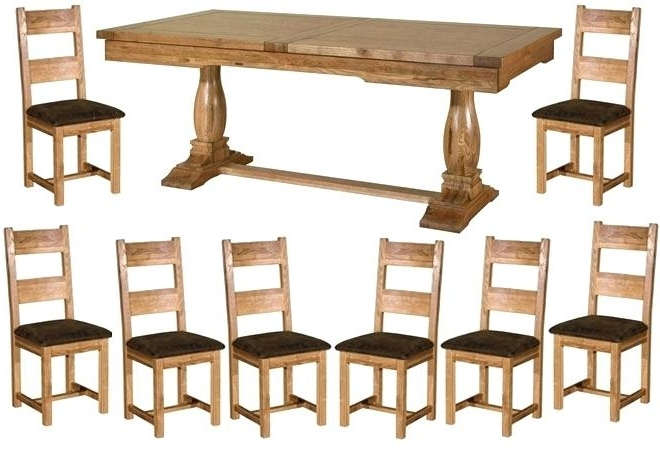 Oak Extending Dining Tables And 8 Chairs Regarding Famous Oak Dining Table And 8 Chairs Sensational Dining Room Decoration (Gallery 9 of 20)