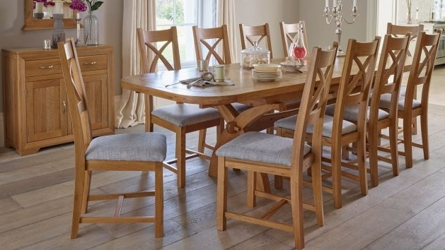 Oak Furnitureland For Extending Dining Table And Chairs (View 16 of 20)