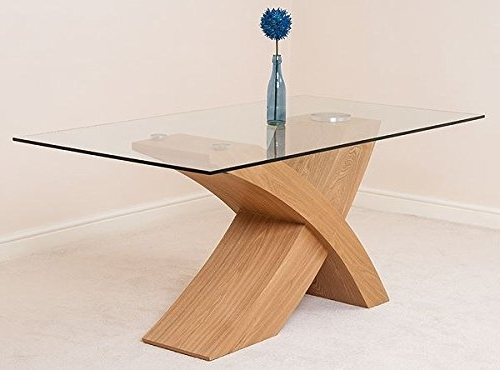 Oak Glass Dining Tables Pertaining To Current Modern Furniture Direct Valencia Small Glass And Wood Dining Table (View 13 of 20)