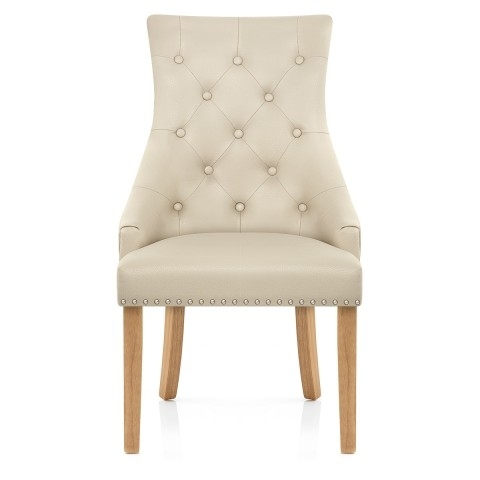 Oak Leather Dining Chairs Inside Favorite Ascot Oak Dining Chair Cream Leather – Atlantic Shopping (Gallery 7 of 20)