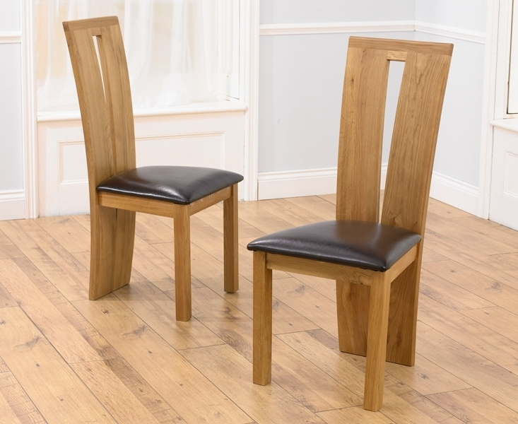Oak Leather Dining Chairs Regarding Most Up To Date Oak Dining Chairs For Your Dining Room Decor (Gallery 4 of 20)