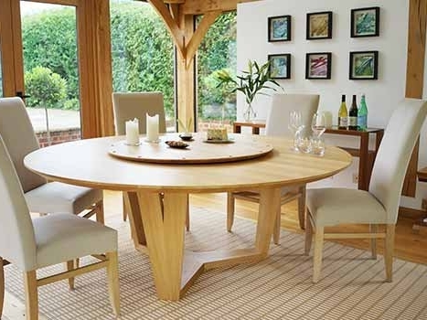 Oak Round Dining Tables And Chairs Regarding Most Popular Extra Large Dining Tables (View 12 of 20)